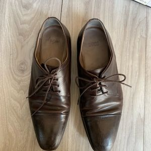 Hugo Boss Brown Lace Up Dress Shoes 👞